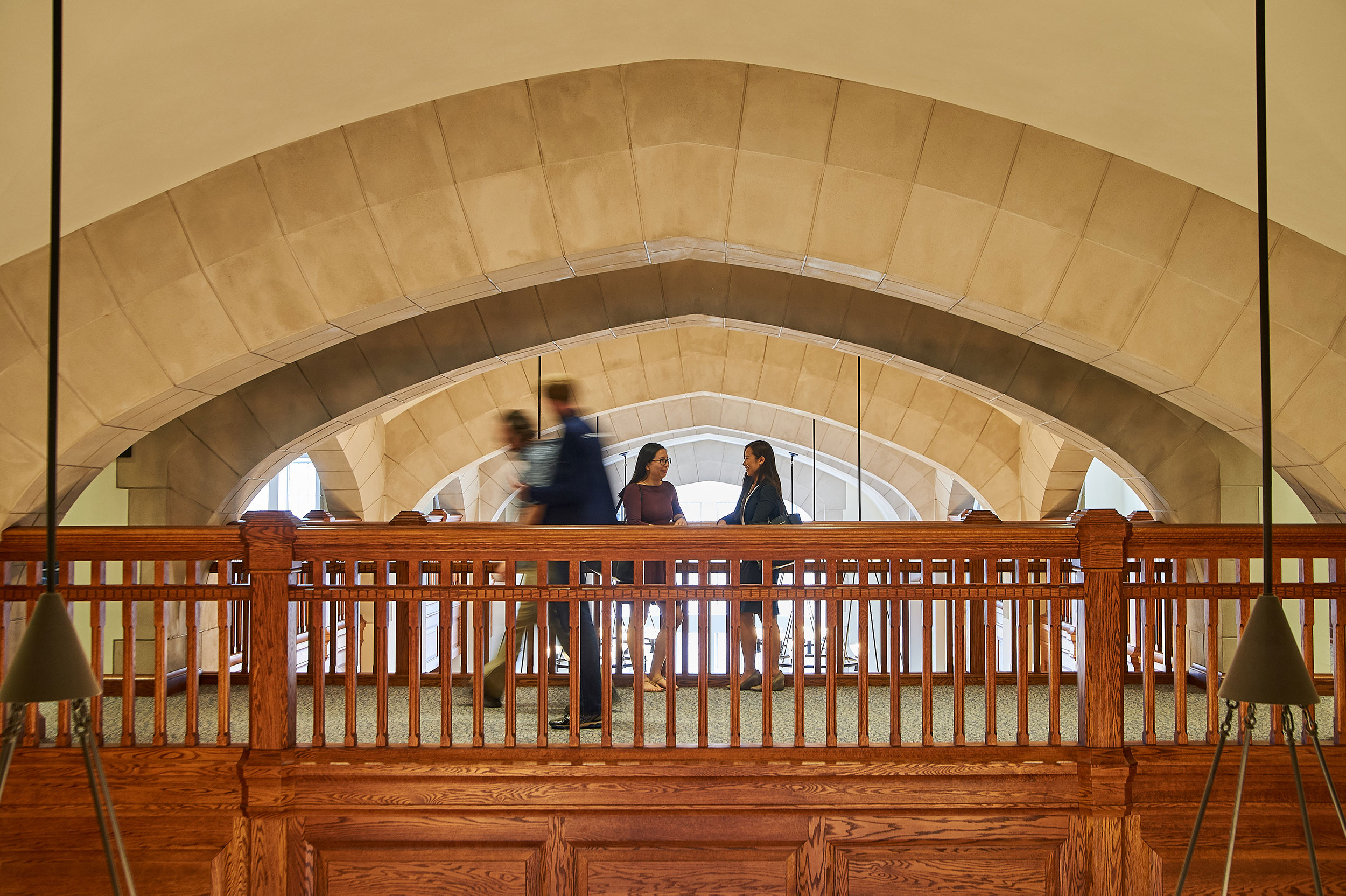 A view inside the Meskill Library at the School of Law